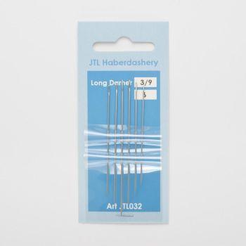 Hand Sewing Needles - Long Darners 3/9
