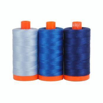 Aurifil 50wt Colour Builder - Como Blue