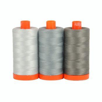 Aurifil 50wt Colour Builder - Milan Grey