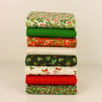 Makower Christmas 21 Classic Foilage fabric - 8 piece fat quarter bundle