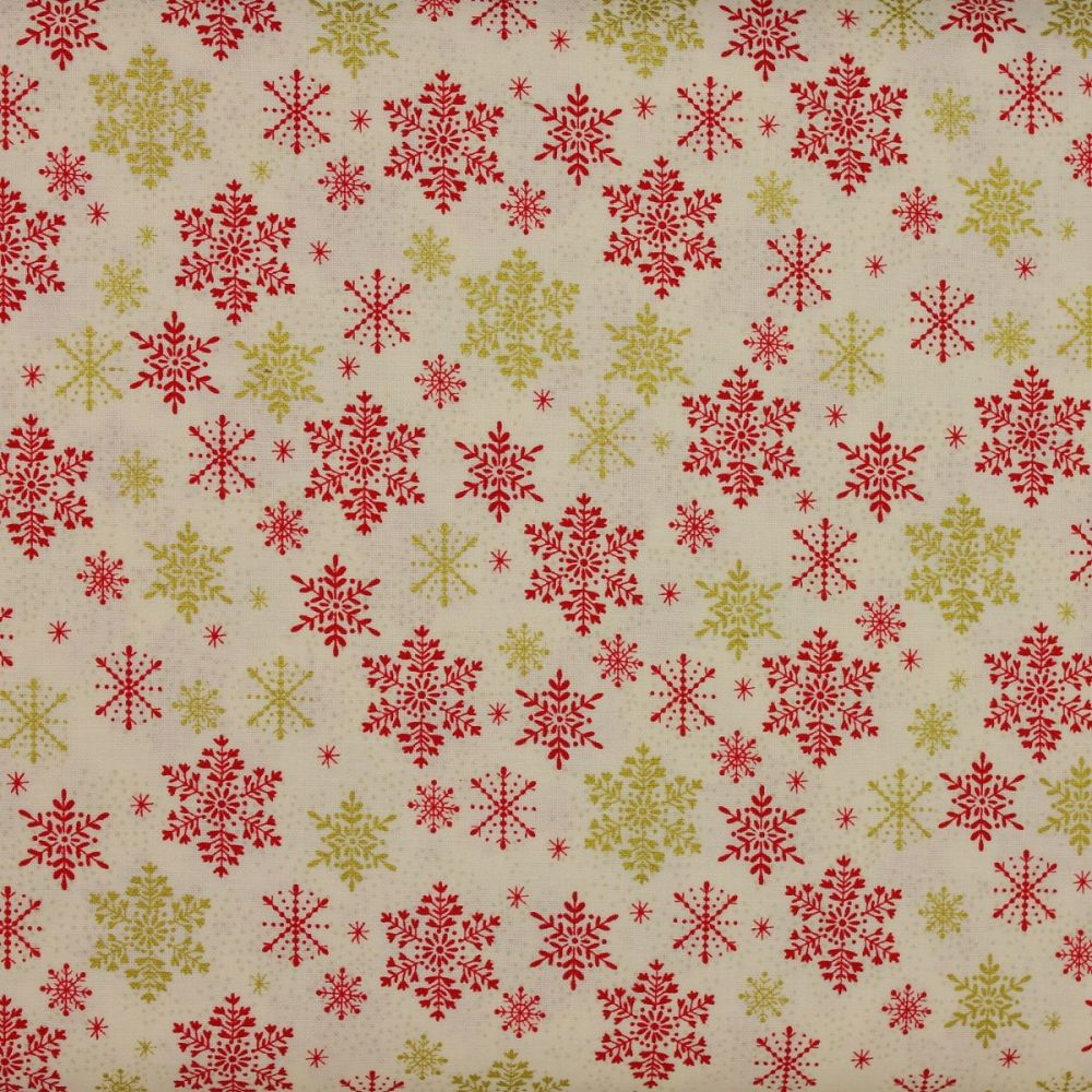 Christmas 21 Scandi - Snowflakes Red