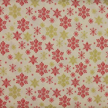 Christmas 21 Scandi - Snowflakes Red (£12pm)