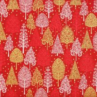 Christmas 21 Scandi - Trees Red (£12pm)