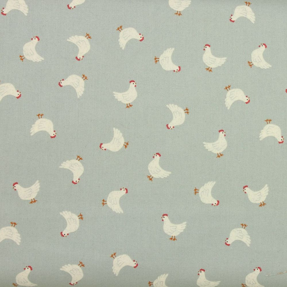 Country Life Reloved - Little Hens on Duck Egg (£12pm)