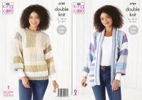 King Cole Knitting Pattern 5789 Ladies Sweater & Jacket
