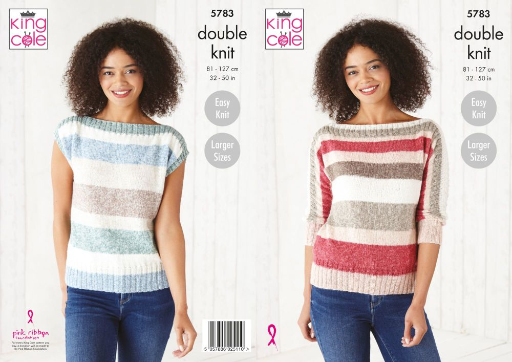King Cole Pattern 5783 Ladies Sweater & Top