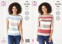King Cole Knitting Pattern 5783 Ladies Sweater & Top