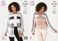 King Cole Knitting Pattern 5790 Ladies Cardigans