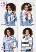 King Cole Knitting Pattern 5784 Ladies Scarf & Wrap