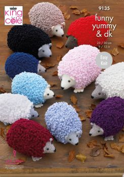 King Cole Knitting Pattern 9135 Hedgehogs