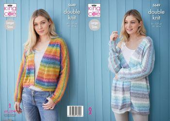King Cole Knitting Pattern 5649 Cardigans