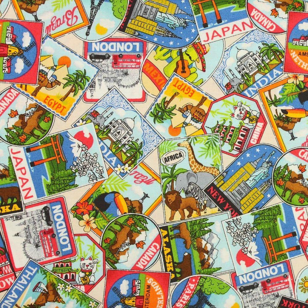 Makower - Around the World - Labels (£12pm)