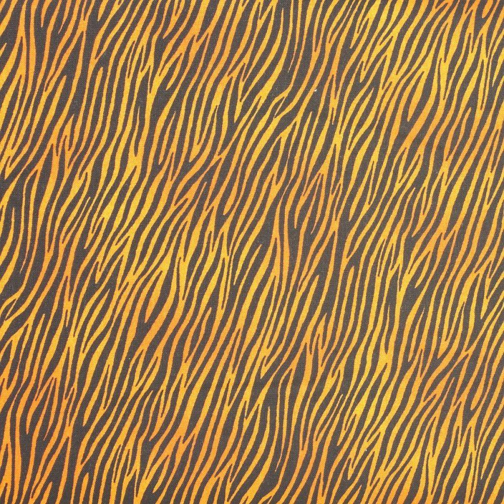Makower - Around the World - Zebra Print Orange (£12pm)