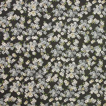 Makower Tranquility Collection - Cherry Branch in Dark Grey (£12pm)