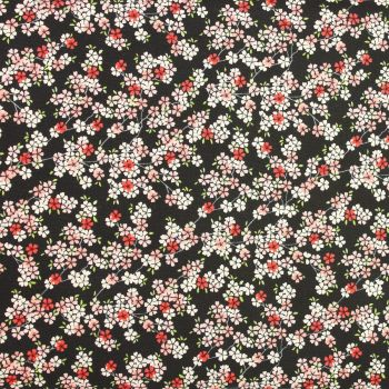 Makower Tranquility Collection - Cherry Branch in Dark Pink (£12pm)