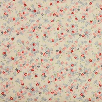 Makower Tranquility Collection - Cherry Branch in Pink (£12pm)