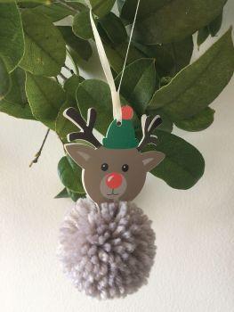 Pom Pom Decoration Kit - Reindeer