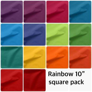 "Brights / Rainbow 10"" Square Pack"