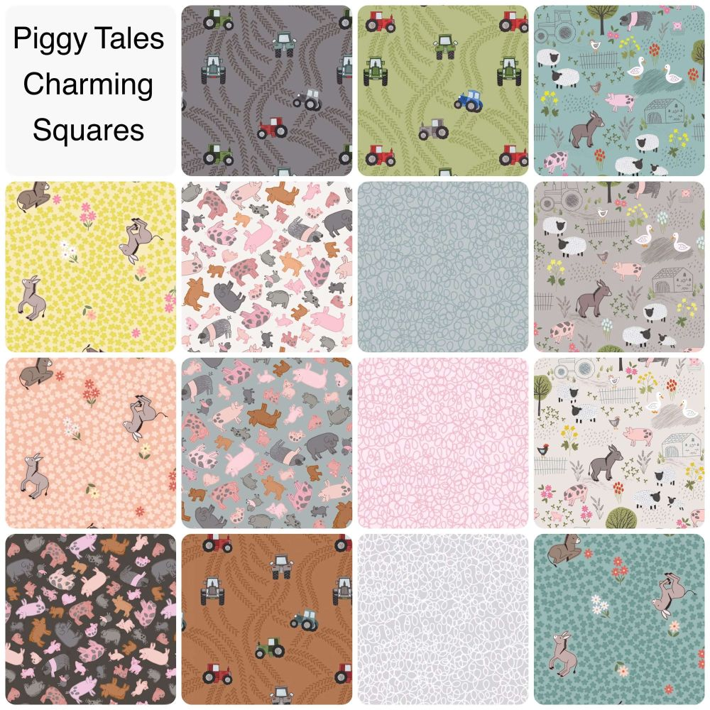 Lewis & Irene - Piggy Tales - Charming Squares