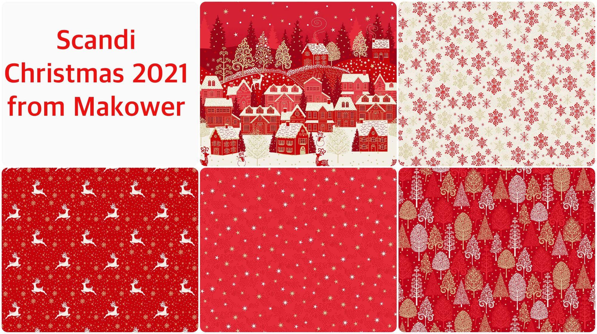 Makower Scandi Christmas 2021 Collection