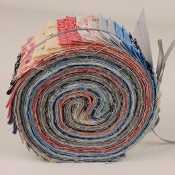 """Makower Tranquility Collection - 2.5"""" Strip Pack (Jelly Roll) 40 pieces"""