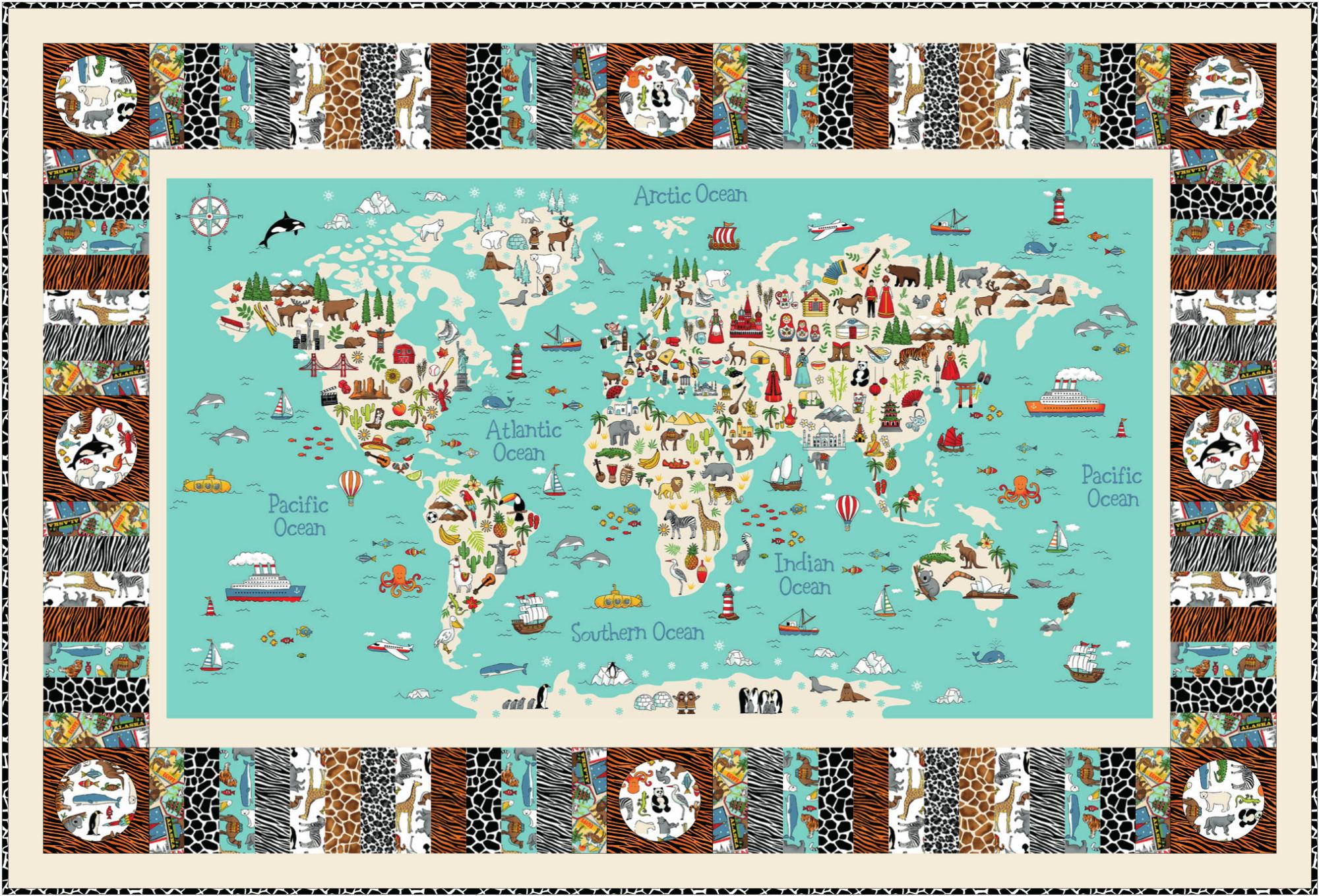 Makower Around the World Quilt