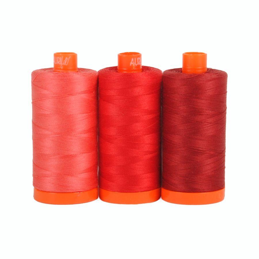 Aurifil Thread - Pompei Red Selection