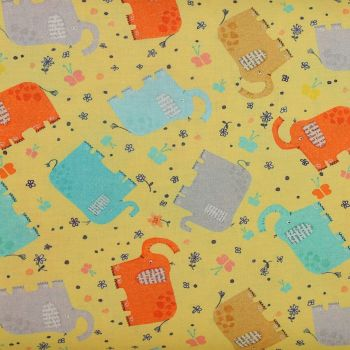 Elephant Joy - Tossed Elephants Yellow (£13pm)