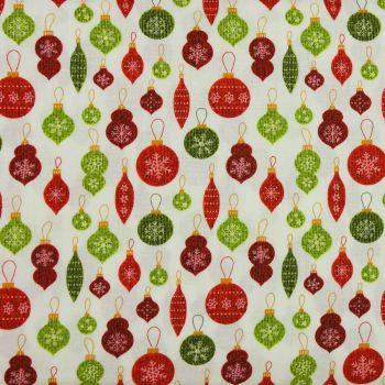 Jinglebell Christmas - Crossroads Ornament White/Multi (£13pm)