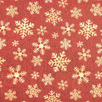 Jinglebell Christmas - Crossroads Snowflake Red (£13pm)