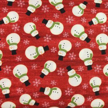 Jinglebell Christmas - Crossroads Snowman Red (£13pm)
