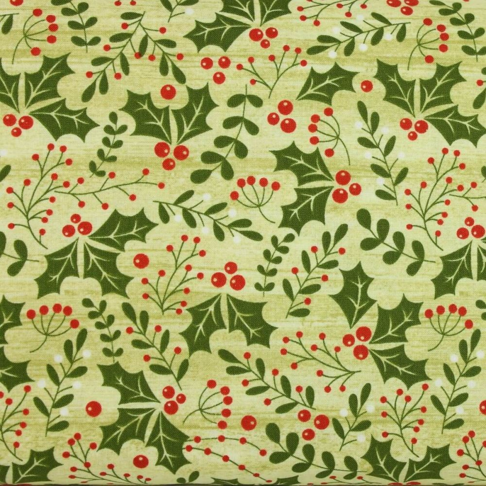 Jinglebell Christmas - Holly Daze Light Green (£13pm)