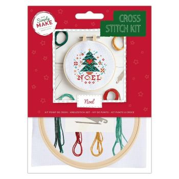 Mini Cross Stitch Kit - Noel / Christmas Tree