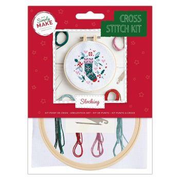 Mini Cross Stitch Kit - Christmas Stocking