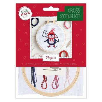 Mini Cross Stitch Kit - Penguin