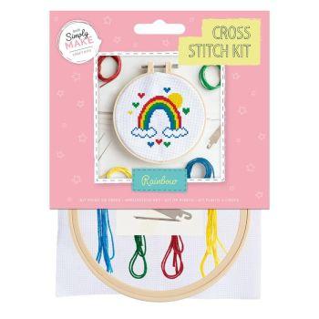 Mini Cross Stitch Kit - Rainbow