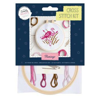 Mini Cross Stitch Kit - Flamingo