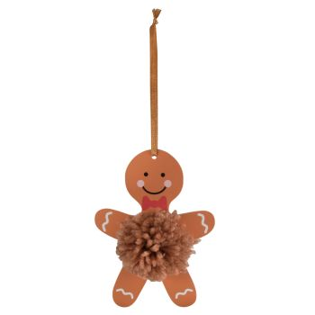 Pom Pom Decoration Kit - Gingerbread Man