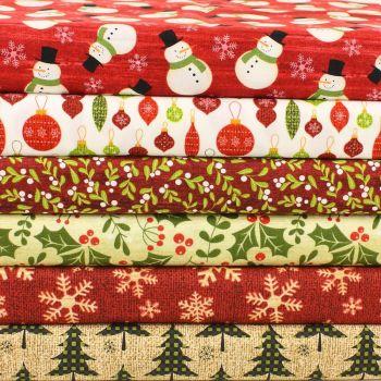 Jinglebell Christmas - 6 piece fat quarter bundle