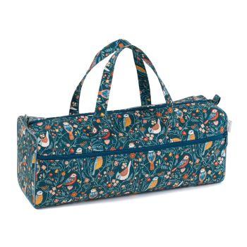 Aviary Design Cotton Knitting Bag