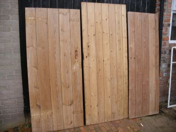 Stripped pine cottage style plank / ledge /  brace doors