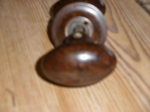Reclaimed oval  bakelite door handles.