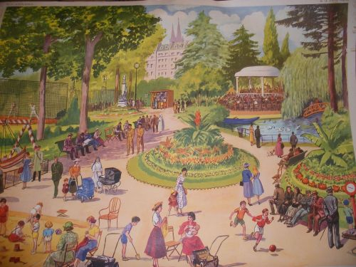 French 1950's Prints depicting everyday scenes.