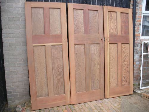 Reclaimed 1930s four panel pitch pine doors