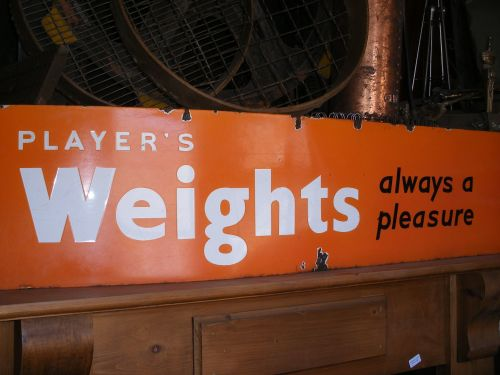 An Original  Unusual Players Enamel Sign