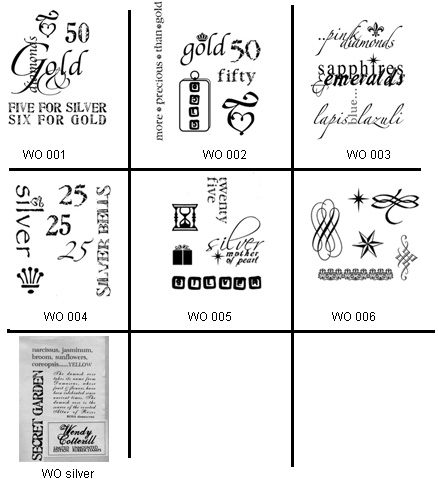 Gallery Textiles Words & Symbols Rubber Stamps