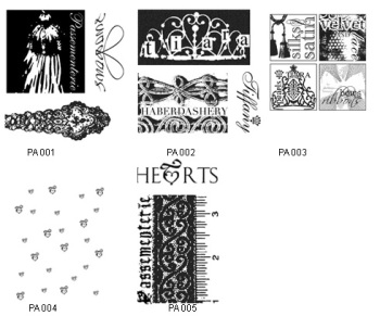 Gallery Textiles Haberdashery Rubber Stamps