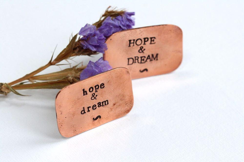 A Little Bag of Hopes & Dreams Copper Token Gift