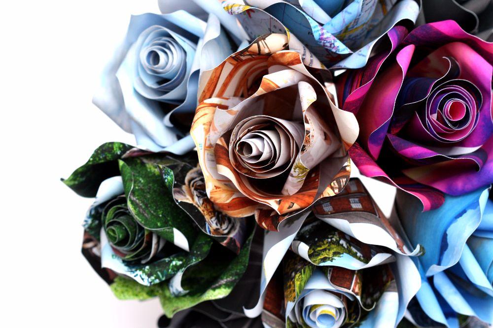 Vintage & Personalised Paper Roses