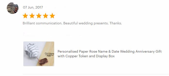 Personalised rose review